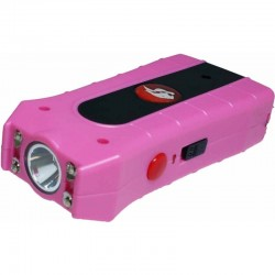BLACK DUO MAX POWER STUN GUN WITH DOUBLE SHOCK PINK