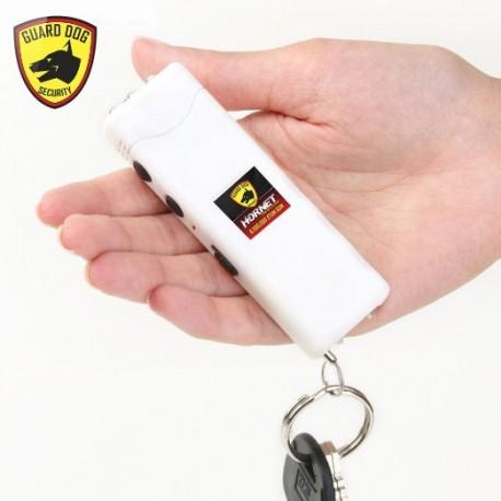 Hornet Keychain Stun Gun 6,000,000 with LED Flashlight White